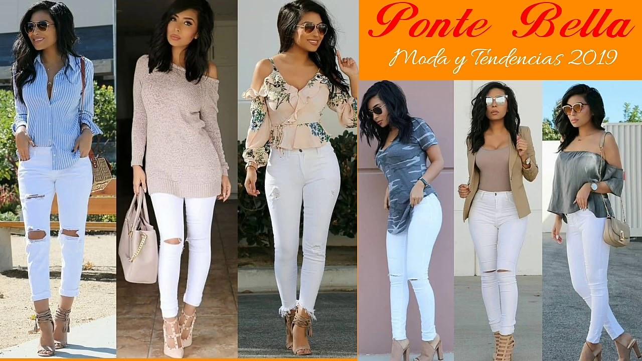 Outfits Con Pantalon Blanco Moda2019 2da Parte Ideas Para Combinar Un Pantalon Blanco Youtube