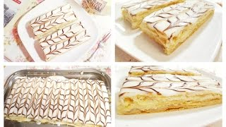 Mille Feuille Recipe (Thousand Leaf) French Pastries