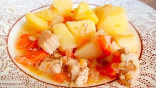 Мясо с картошкой в казане или в кастрюле Все сложили и забыли на 3 часа Вкуснейшее жаркое