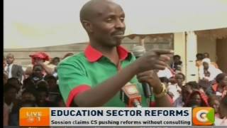 KNUT differs with Matiang'i over education reforms