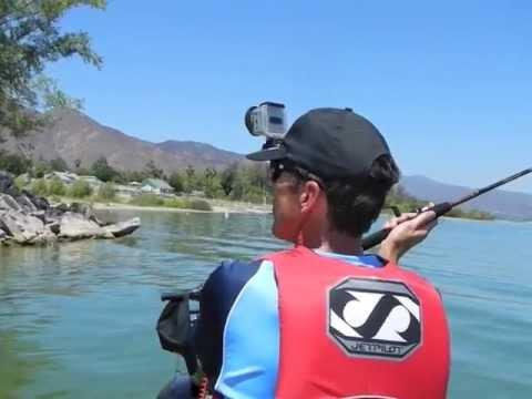 Jet ski cat fishing trolling motor fish finder lake for Lake elsinore fishing report