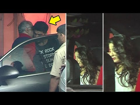 Sridevi's Daughter Jhanvi Kapoor CRIES As Brother Arjun Kapoor Takes Responsibility Of Her Family
