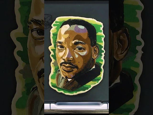 Dr. Martin Luther King Jr. | Pancake Art Portrait (Volume Up!) #Shorts