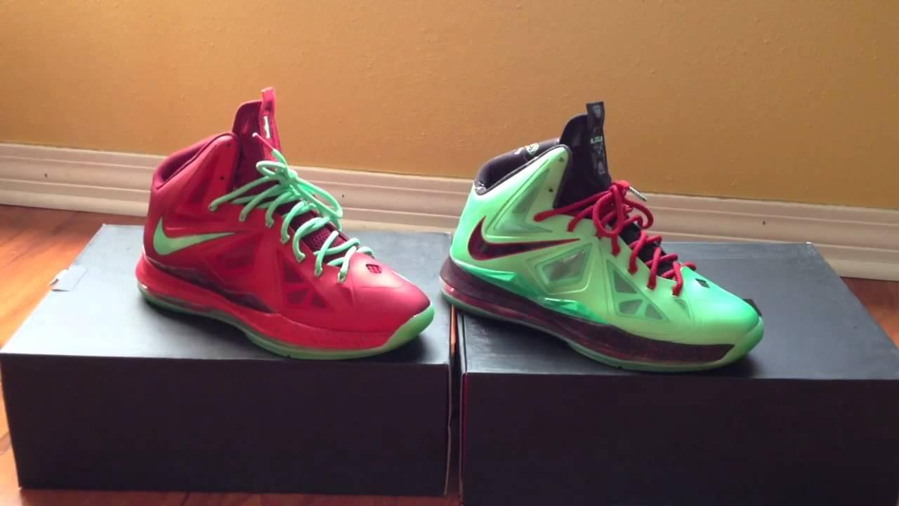 Lebron Christmas 10.Sneaker Vote Lebron X 10 Christmas Or Lebron X 10 Cutting Jade