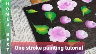 One stroke painting step by step tutorial|Tutorial for acrylic painting|painting for beginners|