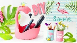 Do LIXO ao LUXO/DIY de Flamingo para decorar gastando bem pouco