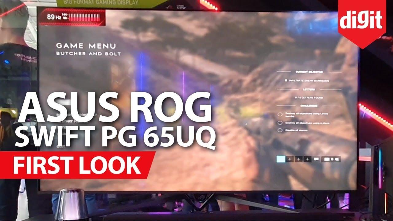 Asus ROG Swift PG65UQ Big Format Gaming Display First Look