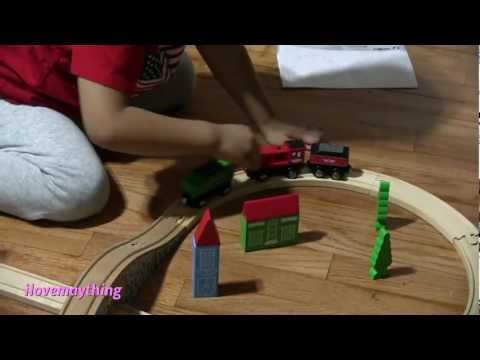 Wooden Railway TRAIN SET Starter Kit by Imaginarium – Toy Trains for Kids