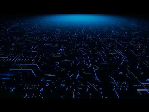 digital circuit board futuristic technology background video f
