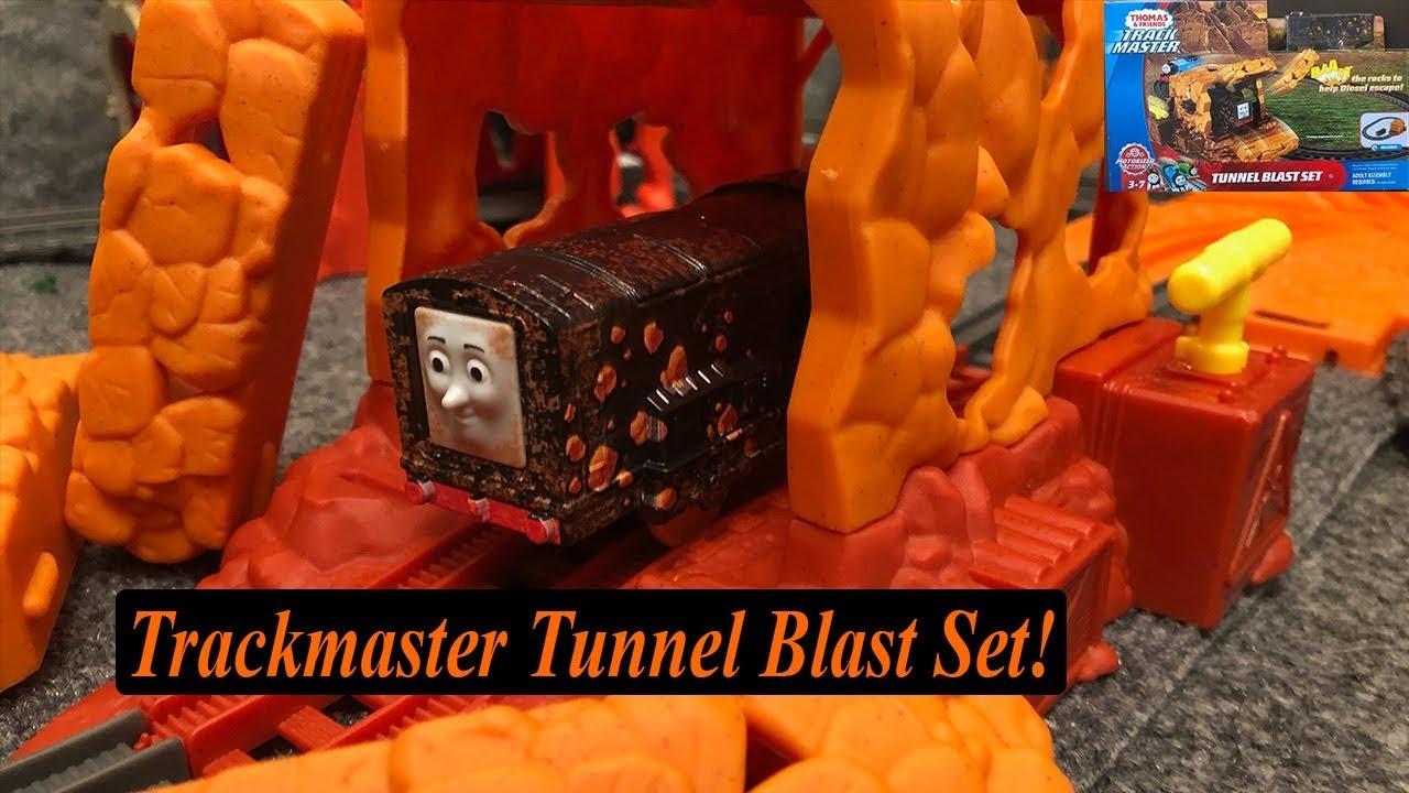 6ea40bc34c2 Thomas and Friends Toy Train Set-Trackmaster Tunnel Blast Set! - YouTube
