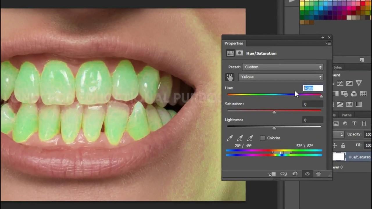 اسهل طريقة لـ تبييض الأسنان ببرنامج الفوتوشوب