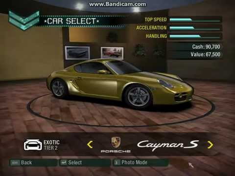 NFS Carbon- Cars Full List