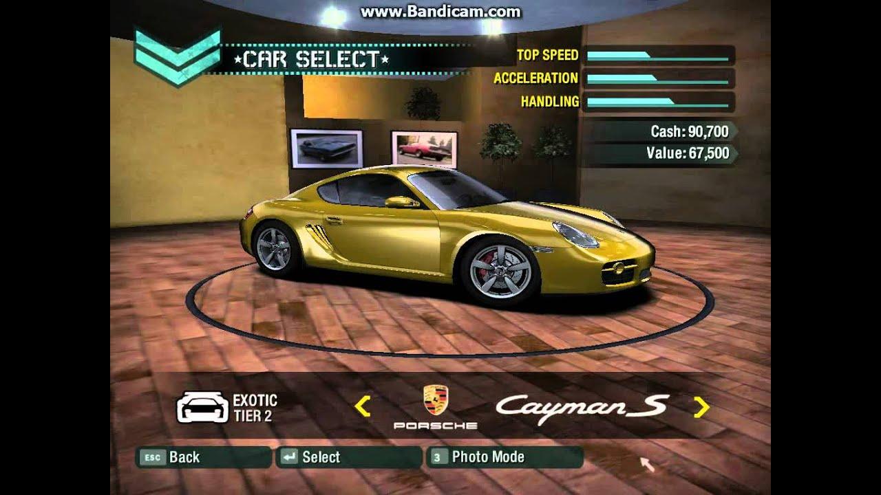 Car Lot Nfs Carbon