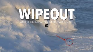 Big Wave Wipeout and Jetski Rescue gone wrong @ Nazaré, Portugal [Andrew Cotton & Hugo Vau]