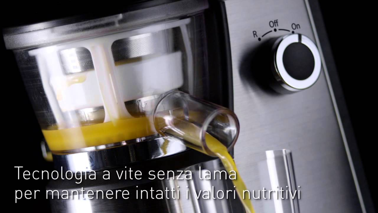 Slow Juicer - Estrattore di succo - HD Line Hotpoint Ariston - YouTube