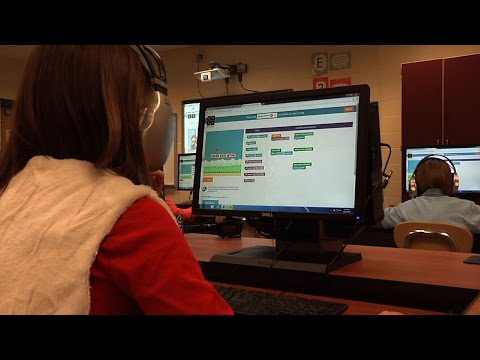 Students Learn Programming During Hour of Code