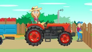 Mrs. Farmer and the Red Tractor | Tractor rides - Apples | cartoons for Kids | Pani Rolnik