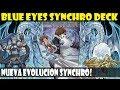 BLUE EYES WHITE DRAGON/DRAGON BLANCO DE OJOS AZULES SYNCHRO DECK   NUEVA EVOLUC…