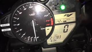 """How to switch the """"Mode"""" on Yamaha R1 (09-14)"""