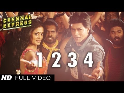 One Two Three Four Chennai Express Full Video Song | Shahruk