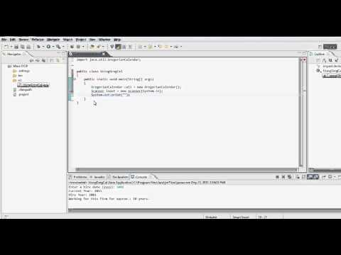 Java Tutorial - Using Gregorian Calendar - Static VS non-Static