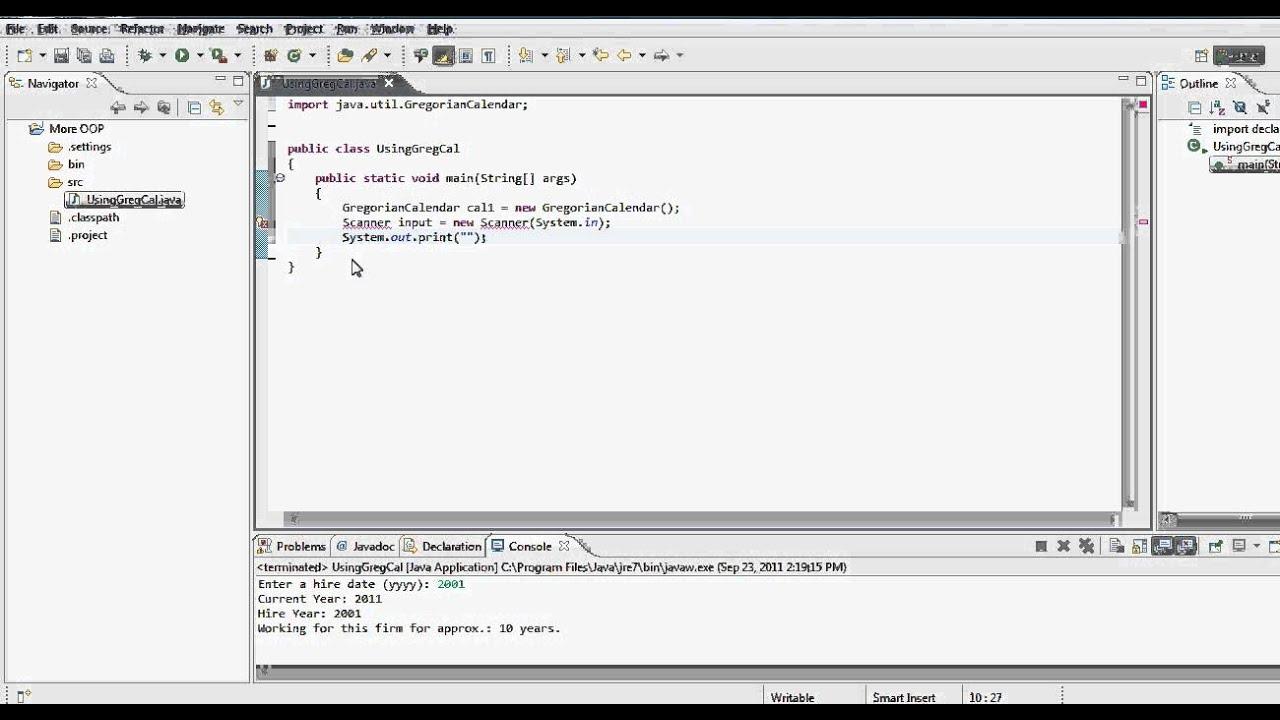 Gregorian Calendar Java Tutorial Java Tutorial Java2s Java Tutorial Using Gregorian Calendar Static Vs Non