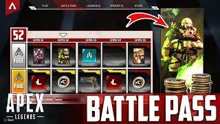ALLE BATTLE PASS Skins und Octane Gameplay | Apex Legends Season 1 Deutsch