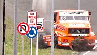 FAIL - 1000 HP Truck Crash into Ditch
