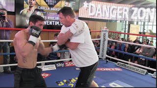 WBA WORLD CHAMPION ANTHONY CROLLA OPEN WORKOUT WITH TRAINER JOE GALLAGHER / DANGER ZONE
