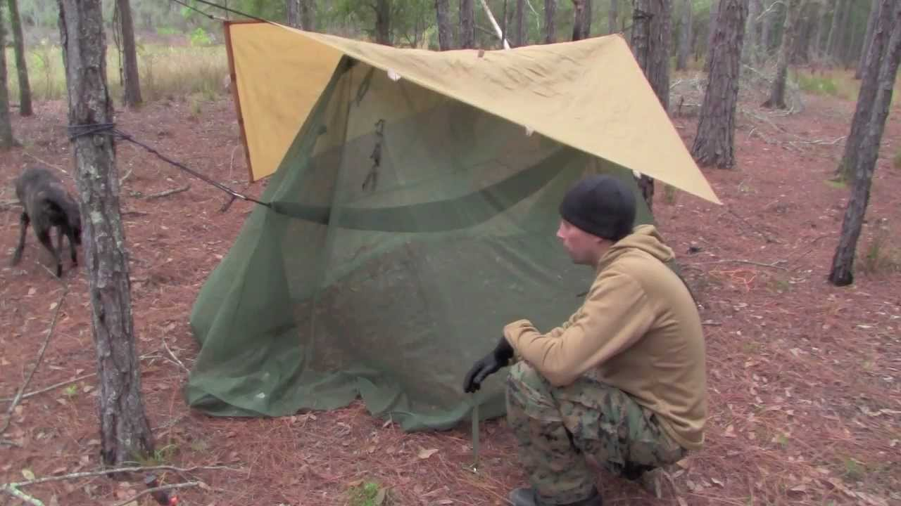 Medium image of hammock system   swamp camping   us military mosquito   grand trunk ultralight   youtube