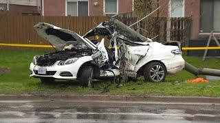 Teen killed in violent overnight crash in Scarborough