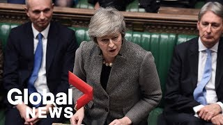 Theresa May condemns calls for second Brexit referendum