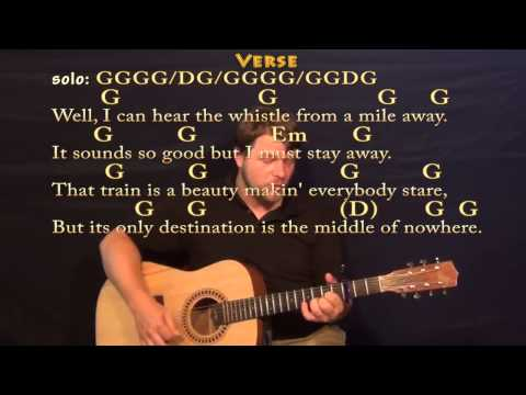 Long Black Train (Josh Turner) Strum Guitar Cover Lesson with Chords / Lyrics