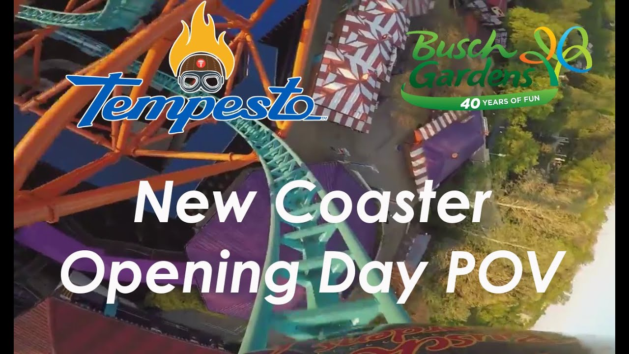 Tempesto Opening Day At Busch Gardens Williamsburg Youtube