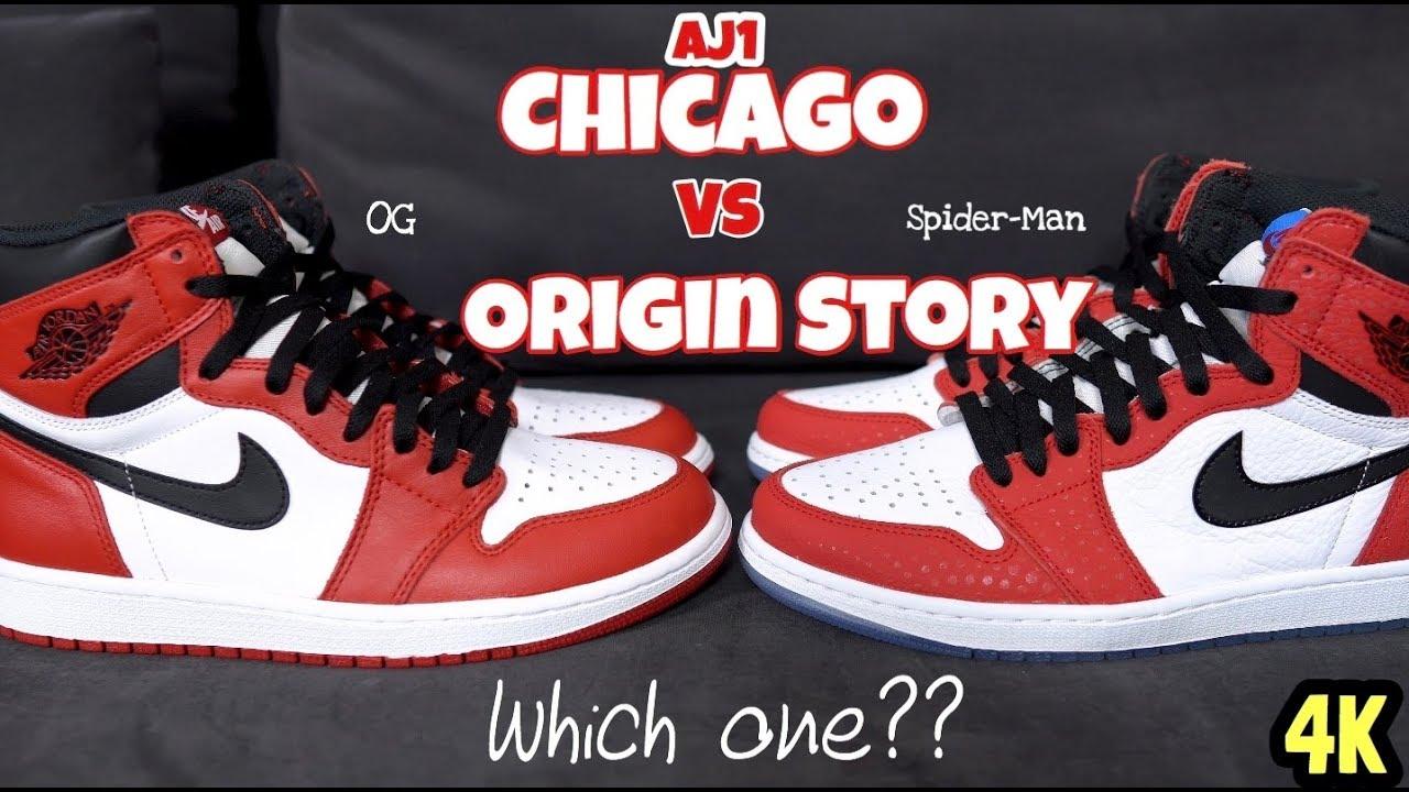 Jordan 1 Chicago Vs Origin Story aka