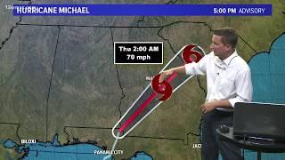Tracking Hurricane Michael: 5 p.m. update (10/10)