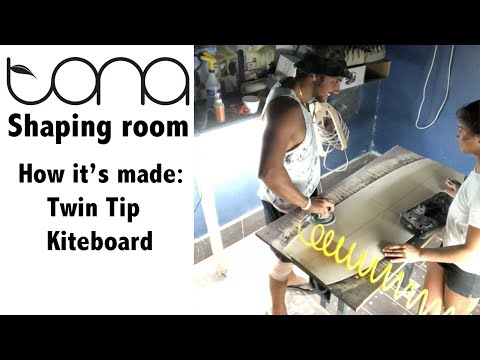 Tona Shaping Room. How to make a kiteboard. Twin Tip. Carbon Fiber.