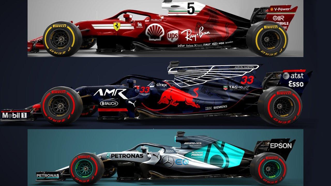 Asi Sera La F1 De 2018 Disenos F1 2018 Livery F1 2018 Ferrari
