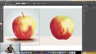 Adobe Illustrator CC Dersleri   #21   Bristle Brush   Elma nasıl çizilir?