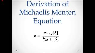 Michaelis Menten Explained and Derived thumbnail