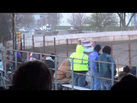 Deery Brothers Late Model heat 2 West Liberty Raceway 4/9/16