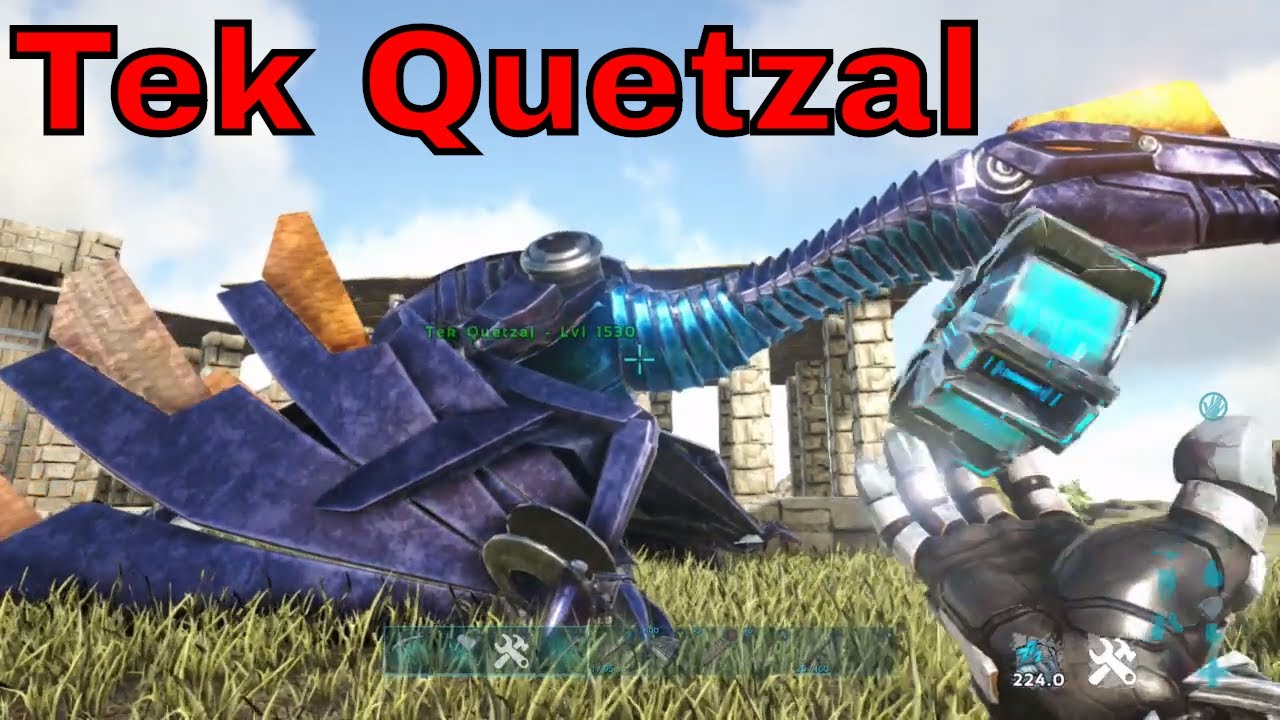 how to spawn in a Tek Quetzal in ark xbox one