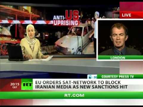 'EU ban on Iran media step towards military intervention'.