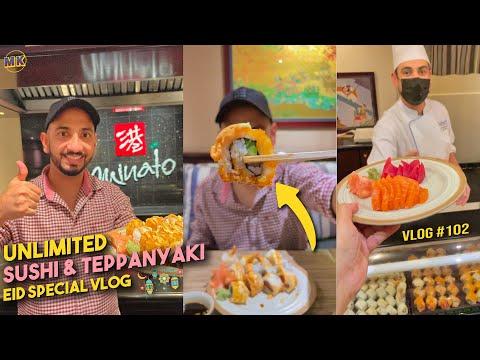 Dubai's ULTIMATE Sushi Buffet?  Minato at Radisson Blu | An Eid Special Food Vlog ☪️ | Mohz Khan.
