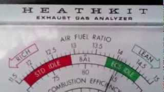 Test with exhaust gas analyzer Video # 8
