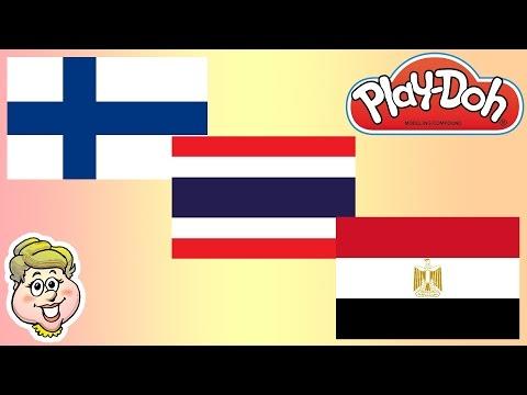 Play Doh Flags Mauritania Iraq And Poland Ewmj 272