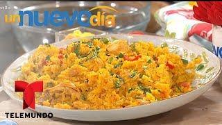 Recetas de cocina: Arroz con Pollo a la Chorrera | Un Nuevo Día | Telemundo