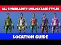 ALL Singularity Unlockable Styles Location Guide | Fortnite Season 9 Fortbyte Challenges