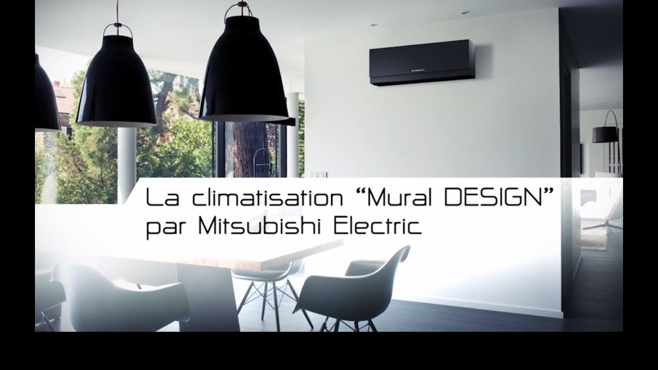 climatiseur mural design msz ef de mitsubishi electric youtube. Black Bedroom Furniture Sets. Home Design Ideas