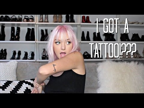 I GOT A TATTOO, NEW PUPPY, PINK HAIR!  Q&A  Maddi Bragg